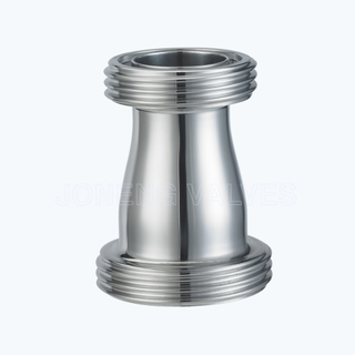 Sanitary male threaded concentric reducers