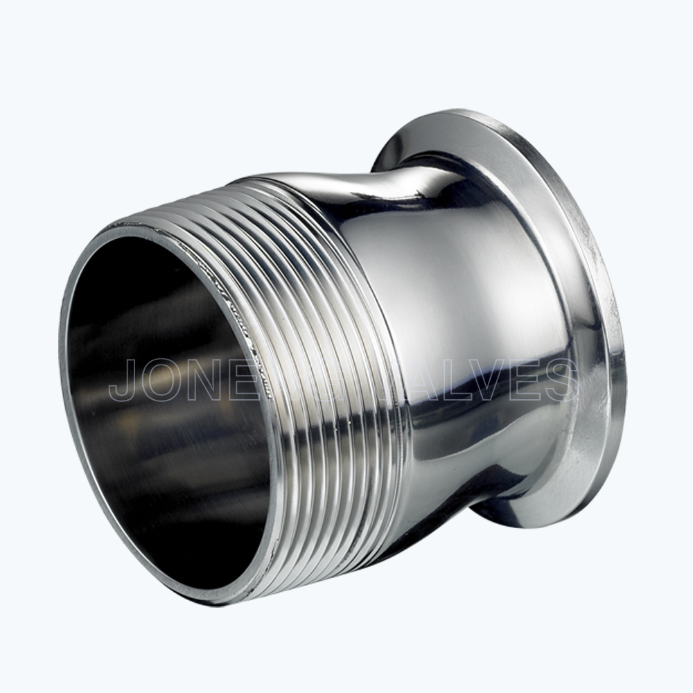 Sanitary Triclover-female threading reducing pipe adapters