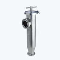 Sanitary triclover side-inlet strainers