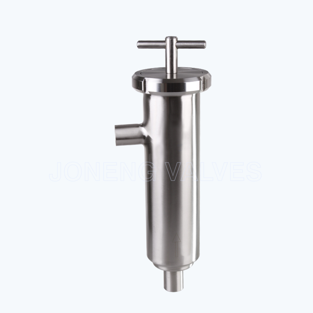 Sanitary L type filters strainers