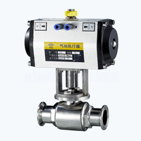 Sanitary pneumatic 2PC ball valves