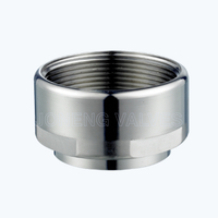 Sanitary welded-male threaded socket adapters
