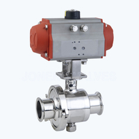 Sanitary pneumatic portable ball valves